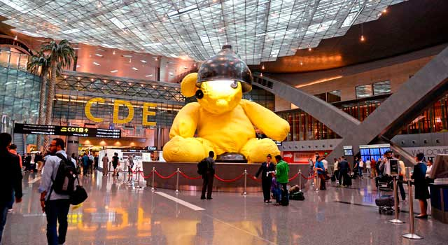 Hamad Airport (DOH) is located 4 km from Doha.